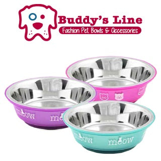 COMING MID-MAY: BUDDY'S LINE CAT BOWLS