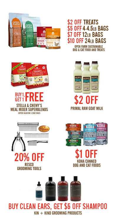 DECEMBER SAVINGS ON OPEN FARM, KOHA, STELLA AND CHEWYS & MORE!
