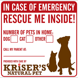 KRISER'S WINDOW CLINGS FOR PET FIRE SAFETY DAY