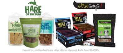 20% OFF ETTA SAYS! AND HARE OF THE DOG TREATS