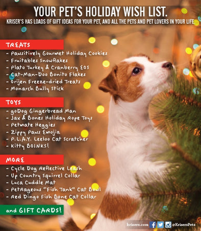 KRISER'S NATURAL PET HOLIDAY GIFT GUIDE