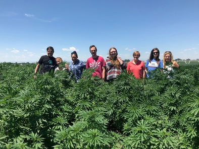 KRISER'S VISITS THE PET RELEAF HEMP FIELDS AND FARM