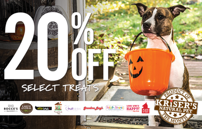 HAPPY HALLOWEEN! 20% OFF SELECT TREATS IN OCTOBER