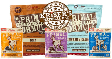 BUY PRIMAL FREEZE-DRIED FOOD, GET A FREE BAG OF TREATS!