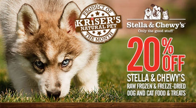 SAVE ON STELLA & CHEWY'S RAW FOOD AND TREATS THIS MONTH