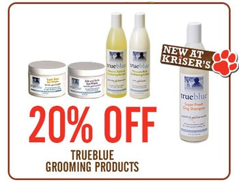 TAKE 20 PERCENT OFF TRUE BLUE GROOMING PRODUCTS