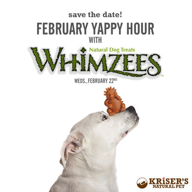 FEBRUARY YAPPY HOUR WITH WHIMZEES SAVE THE DATE