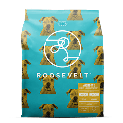 Roosevelt Wishbone Chicken and Green Lentil Grain Free Recipe Dry Dog Food