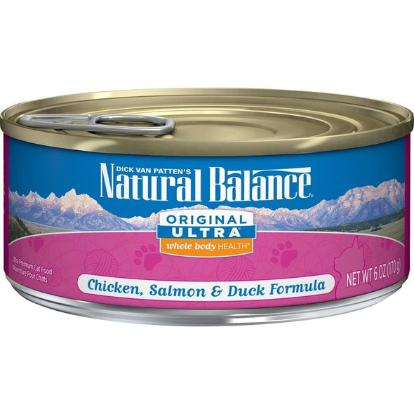 Natural Balance Original Ultra Premium Whole Body Health Chicken, Salmon and Duck Formula Canned Cat Food