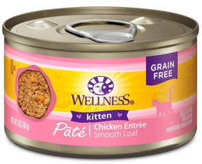 Wellness Complete Health Natural Grain Free Kitten Health Chicken Recipe Single Wet Canned Cat Food