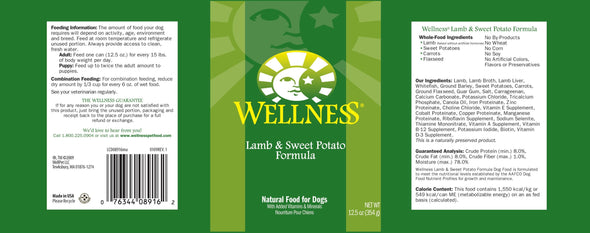 Wellness Complete Health Natural Lamb and Sweet Potato Recipe Wet Canned Dog Food