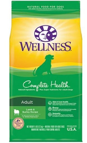 Wellness Complete Health Natural Lamb & Barley Recipe Dry Dog Food