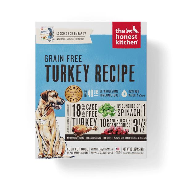 The Honest Kitchen Grain Free Turkey Recipe Dehydrated Dog Food