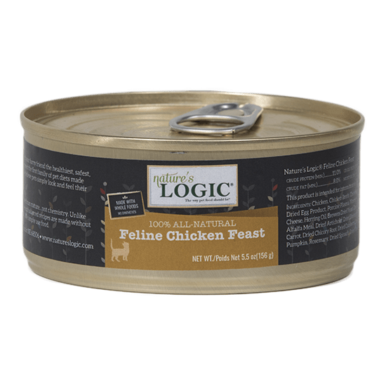 Nature's Logic Feline Grain Free Chicken Feast Canned Cat Food