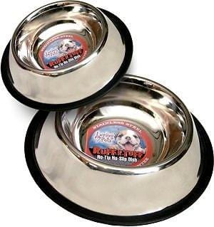 Loving Pets Ruff N Tuff Traditional No Tip Stainless Steel Pet Dishes