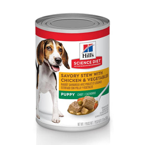 Hill's Science Diet Puppy Savory Stew Chicken & Vegetables Canned Dog Food