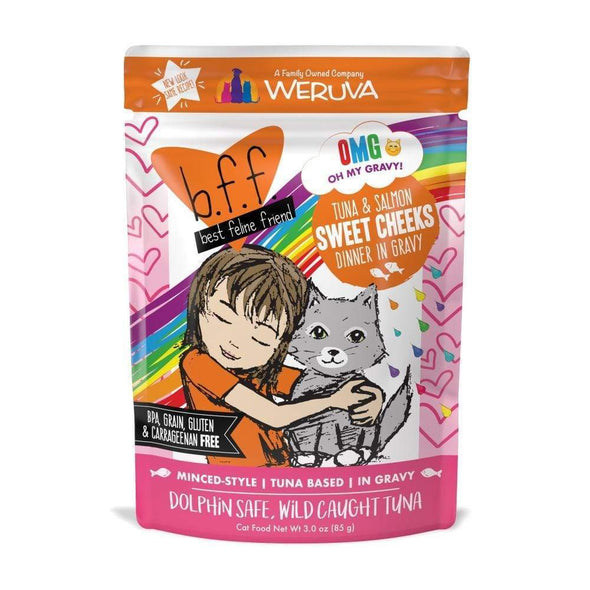 Weruva BFF Tuna & Salmon Sweet Cheeks Recipe Single Pouches Wet Cat Food