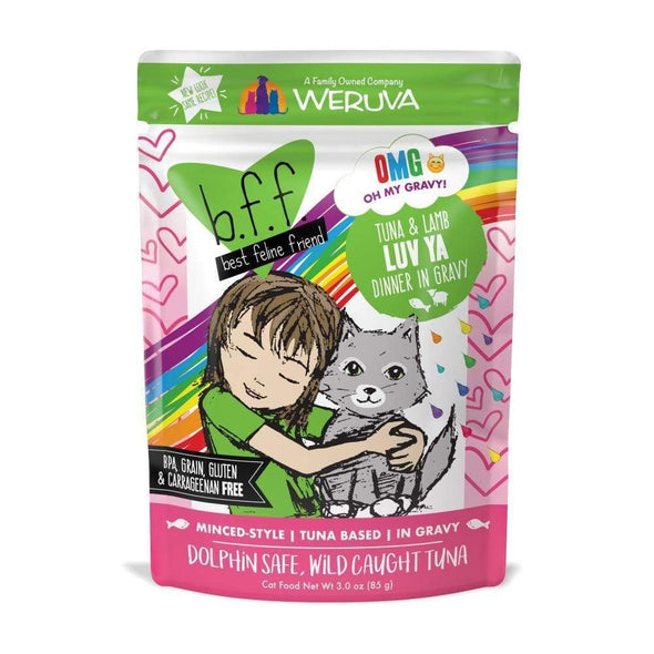 Weruva BFF Tuna & Lamb Luv Ya Recipe Single Pouches Wet Cat Food