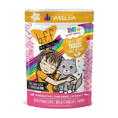 Weruva BFF Tuna & Turkey Tickles Recipe Single Pouches Wet Cat Food
