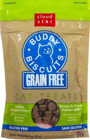 Cloud Star Buddy Biscuits Grain Free Tender Chicken Cat Treats