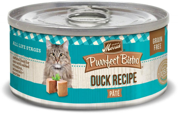 Merrick Purrfect Bistro Duck Pate Grain Free Canned Cat Food