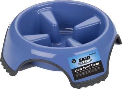 JW Pet Skid Stop Slow Feed Dog Bowls