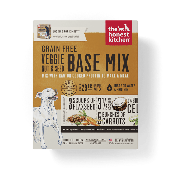 The Honest Kitchen Grain Free Veggie, Nut & Seed Recipe Dog Food Base Mix