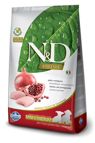 Farmina N&D Prime Natural & Delicious Grain Free Mini & Medium Puppy Chicken & Pomegranate Dry Dog Food