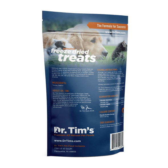 Dr. Tim's Freeze Dried Natural Turkey Chips Dog and Cat Treats