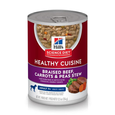 Hill's Science Diet Healthy Cuisine Adult 7+ Braised Beef, Carrots, & Peas Stew Canned Dog Food