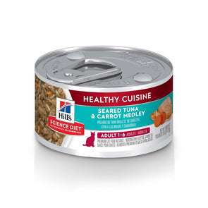 Hill's Science Diet Healthy Cuisine Senior Adult Seared Tuna & Carrot Medley Canned Cat Food
