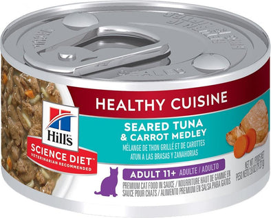 Hill's Science Diet Healthy Cuisine Adult 11+ Seared Tuna & Carrot Medley Canned Cat Food