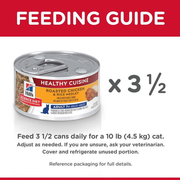 Hill's Science Diet Healthy Cuisine Adult 7+ Roasted Chicken & Rice Medley Canned Cat Food