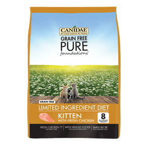 Canidae Grain Free PURE Foundations Kitten Formula Chicken Dry Cat Food