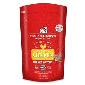Stella & Chewy's Raw Frozen Chewy's Chicken Dinner Patties for Dogs