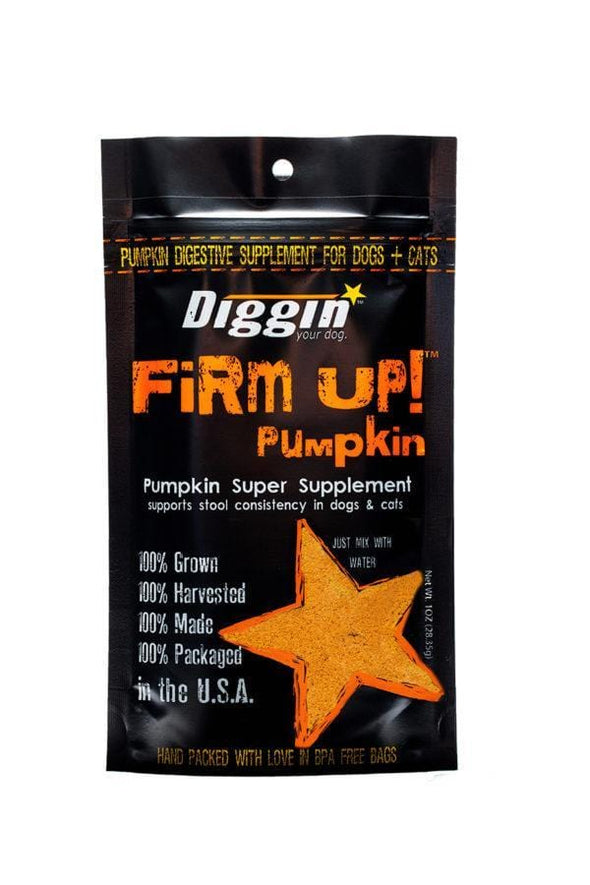 Diggin Your Dog Firm Up Pumpkin Digestive Supplement for Dogs