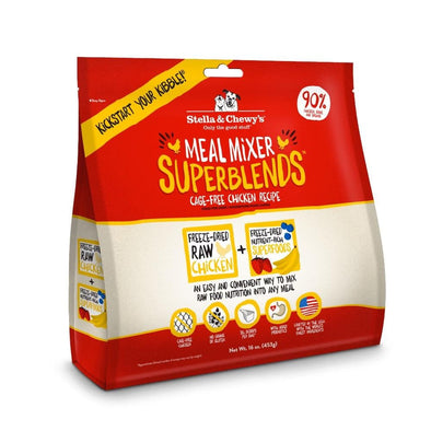 Stella & Chewy's Meal Mixer SuperBlends Grain Free Chicken Recipe Freeze Dried Raw Dog Food Topper