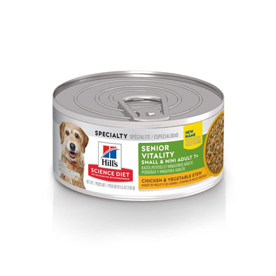Hill's Science Diet Adult 7+ Small & Mini Senior Vitality Chicken & Vegetable Stew Canned Dog Food