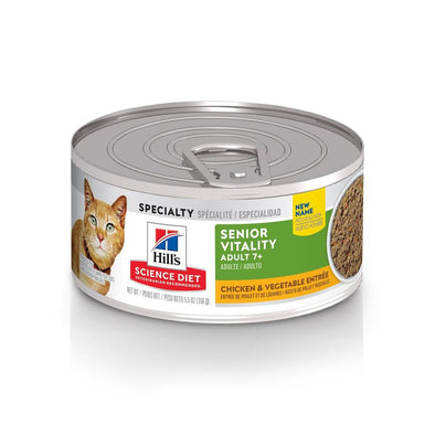 Hill's Science Diet Adult 7+ Senior Vitality Chicken & Vegetable Entree Canned Cat Food