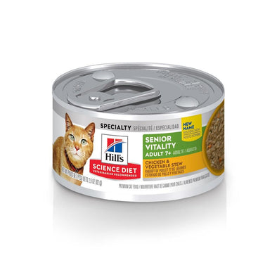 Hill's Science Diet Adult 7+ Senior Vitality Chicken & Vegetable Stew Canned Cat Food