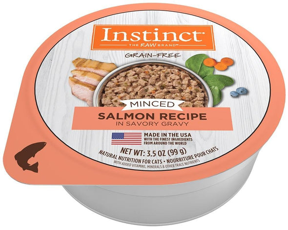 Instinct Adult Grain Free Minced Recipe with Real Salmon Natural Cat food Cups