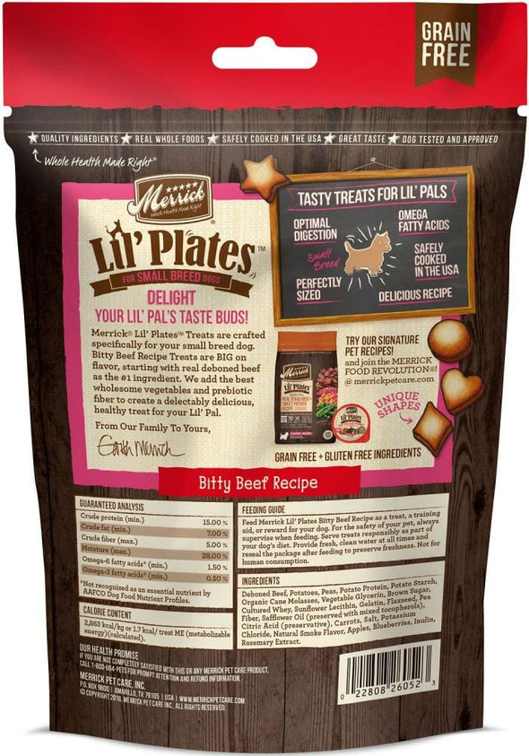 Merrick Lil' Plates Grain Free Bitty Beef Dog Treats