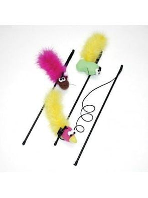 Ethical Pet SPOT Feather Boa Teaser Wand with Catnip Toy