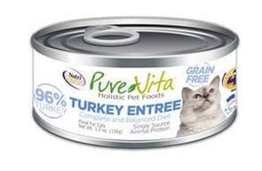 PureVita Grain Free 96% Real Turkey Entree Canned Cat Food