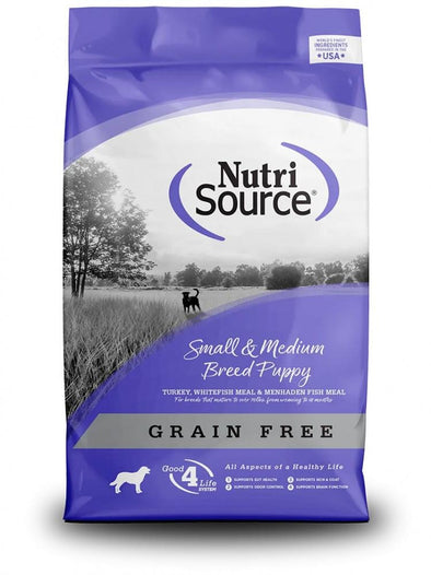 NutriSource Grain Free Small & Medium Breed Puppy Recipe Dry Dog Food