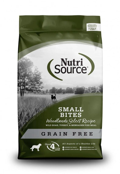 NutriSource Grain Free Woodlands Select Small Bites Dry Dog Food