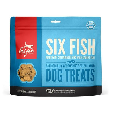 ORIJEN Grain Free Six Fish Freeze Dried Dog Treats