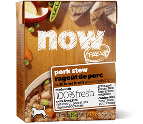 Petcurean Now! Fresh Grain Free Pork Stew with Bone Broth Wet Dog Food