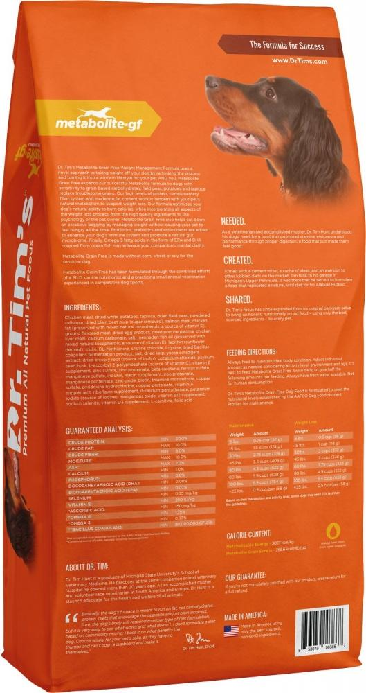 Dr. Tim's Grain Free Weight Management Metabolite Dry Dog Food