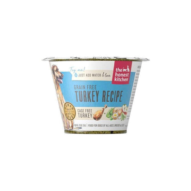 The Honest Kitchen Grain Free Turkey Recipe Dehydrated Dog Food Single Cups